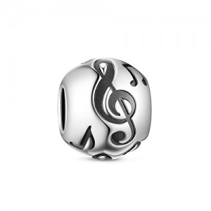 TinySand Charms Bead Argento Sterling 925 Nota Musicale per braccialetti Pandora